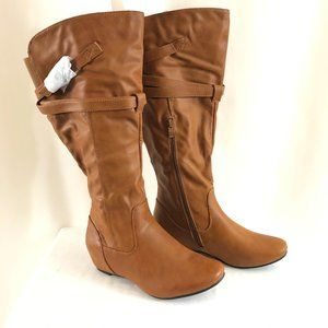 De Blossom Womens Boots Strappy Faux Leather 8